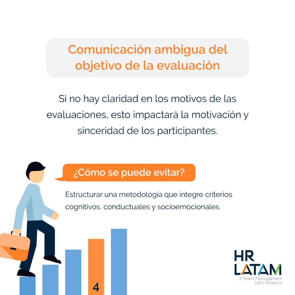 Errores comunes al hacer el assessment de potencial: comunicación ambigua del objetivo de la evaluación
