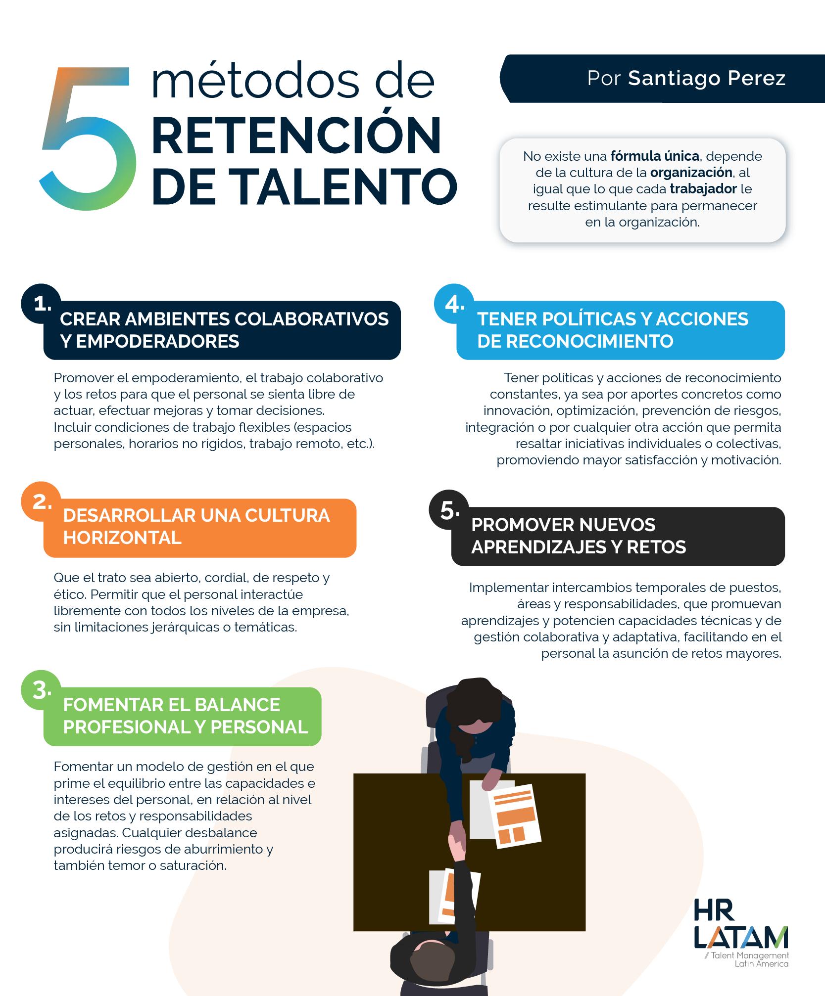 5 métodos de retención del talento