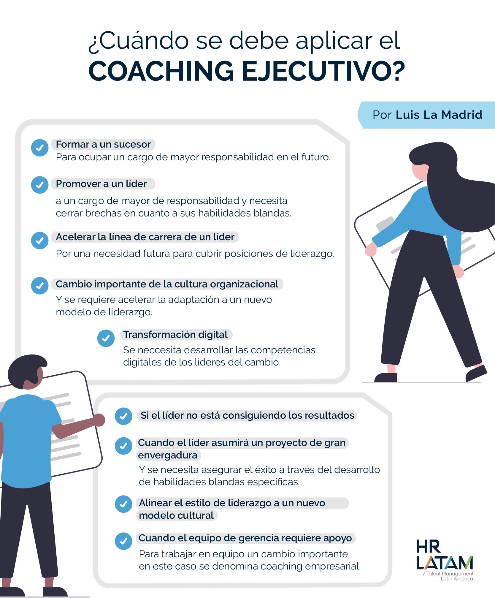 Cuándo se debe aplicar el coaching ejecutivo
