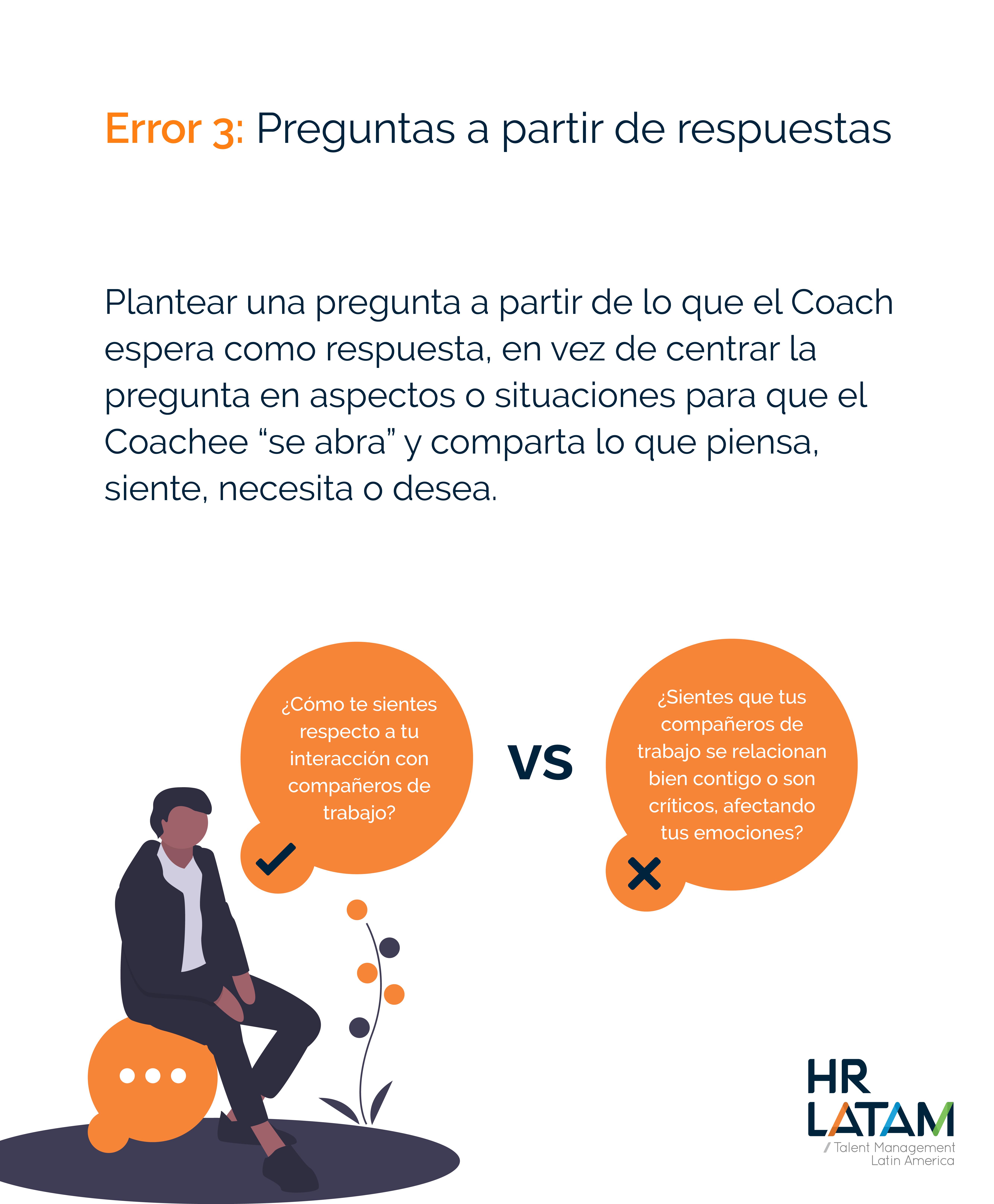 Error 3: Preguntas a partir de respuestas (coaching)