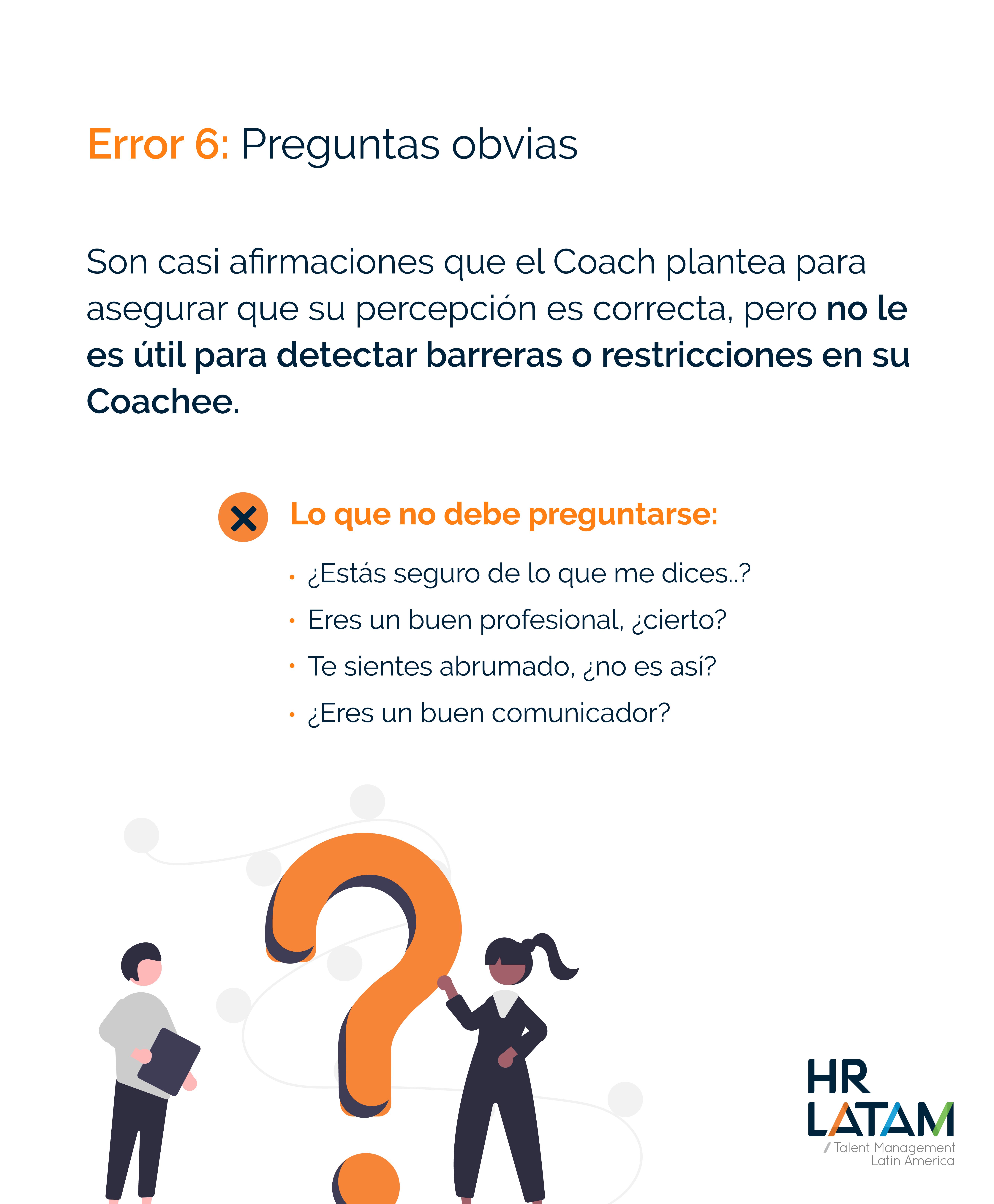 Error 6: Preguntas obvias